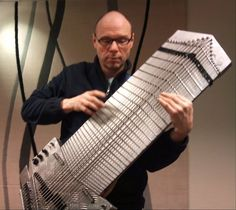 If a Chapman Stick and a piano had a baby it might look like this one-of-a-kind extended range bass made by a luthier in Norway.