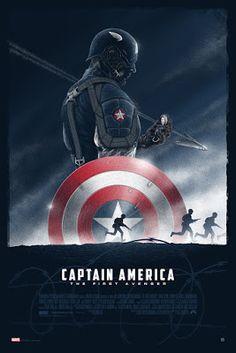 """""""Captain America: The First Avenger"""" Limited Edition - Marvel Poster – Grey Matter Art Marvel Captain America, Ms Marvel, Marvel Comics, Captain America Poster, Marvel Art, Marvel Heroes, Marvel Characters, Poster Marvel, Avengers Poster"""