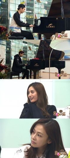 EXO's Chanyeol and actor Seo Kang Joon held a piano battle. http://www.kpopstarz.com/tags/exo