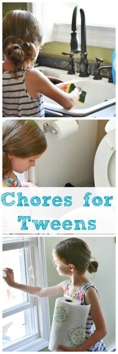 Chores for Tweens and Teens. Get them kids helping around the home and teach them responsibility. AD #AvoidtheOops.