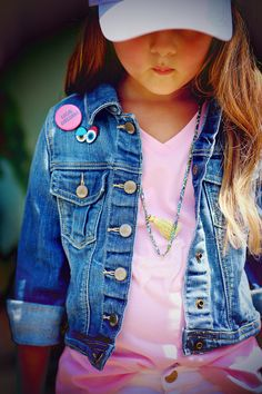 Kids Accessories #chasinivy Pink Blue, Aqua, Girls Accessories, Beautiful Babies, Shades Of Blue, Denim, Spring, Kids, Jackets