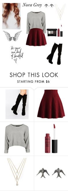 """Nora Grey inspired(hush,hush)"" by obrien91 ❤ liked on Polyvore featuring Faith, Chicwish, Forever 21 and NYX"