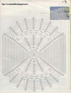Caminho de mesa em crochê - gráfico