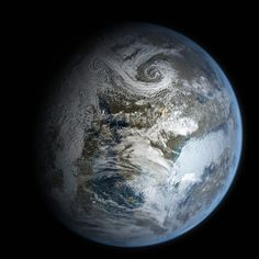Stock Ice Planet 3 with Clouds by rich35211.deviantart.com on @deviantART