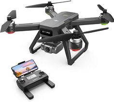 Amazon.com: DEERC D15 GPS Drone with 4K UHD EIS Camera, Anti-Shake, 5G FPV Live Video, 130° Wide Angle, 90 Adjustable, Brushless Motor, Auto Return Home, Follow Me, Tap-Fly, Optical Flow, Quadcopter for Adults: Toys & Games Flight Speed, Phantom Drone, Professional Photo Shoot, Drone For Sale, 4k Uhd, Charging Cable, Wide Angle