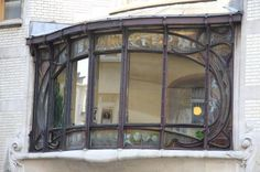 Hotel Hannon, Brussels  The remarkable stained glass windows were made by Raphaël Evaldre using the American glass technique made popular by Louis Comfort Tiffany.