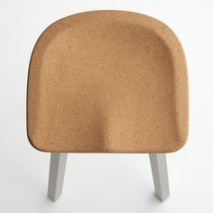 Environmentally friendly stool with a cork seat! SU Stool by Nendo for American design brand Emeco.