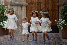 Los zapatos, el punto de color y diferenciación en los niños de arras