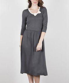 Magnesium Gift Girl Dress #zulily #zulilyfinds