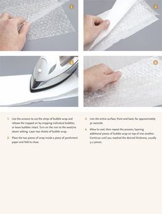 Bubble Wrap Necklace - Step by Step Tutorial - fuse layers of bubble wrap together with iron