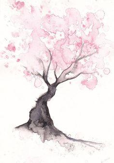 Watercolor tree..