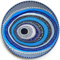 Decorative Plate  Blue Evil Eye  Original by biancafreitas on Etsy