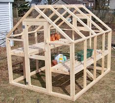 Bepa's Garden: Building a Greenhouse  Est $150 greenhouse...simple plans---thinking could use corrugated greenhouse panels instead of fabric