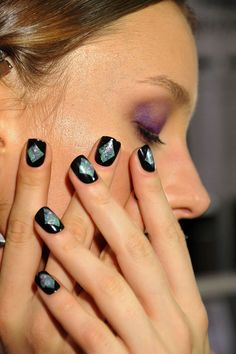 Go galactic with this other-worldly nail style! Nicole Miller Spring 2013 Collection #nyfw