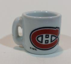 Collectible Montreal Canadiens Mini Ceramic Mug https://treasurevalleyantiques.com/products/collectible-montreal-canadiens-mini-ceramic-mug #Montreal #Canadiens #Habs #Miniatures #Collectibles #NHL #Hockey
