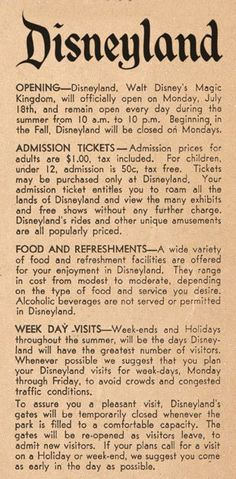 This Day in History: Jul 17, 1955: Disneyland opens Just for fun! disneyland #disney #disneyland