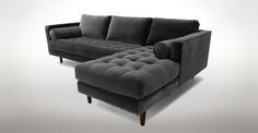 Sven Shadow Gray Right Sectional Sofa - Sectionals - Article | Modern, Mid-Century and Scandinavian Furniture