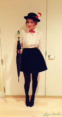 Mary Poppins Mary Poppins: Mary Poppins is a simple costume to put together, and you can get away with a pretty short skirt with the black tights. Source: Lauren Conrad The post Mary Poppins & Fasching appeared first on Halloween costumes . Costume Mary Poppins, Mary Poppins Disfraz, Mary Poppins Kostüm, Mary Poppins Fancy Dress, Halloween Costumes Mary Poppins, Mary Poppins Outfit, Classy Halloween Costumes, Hallowen Costume, Cute Costumes
