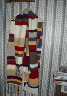 The 4th Doctor's scarf. Length about 5,5m. This was a loooong knitting project, but it was fun, and I always made it when watching Doctor Who, ofcourse!