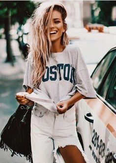 69 Trendy and Casual Street Style Inspiration to Copy - Fashionetter Mode Outfits, Fall Outfits, Summer Outfits, Casual Outfits, Fashion Outfits, Casual Jeans, Holiday Outfits, Alexandra Burimova, Spring Summer Fashion