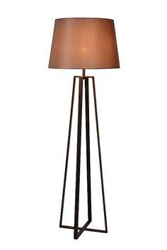 Vloerlamp landelijk met kap roest