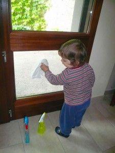 Putsa fönster microfiberduk