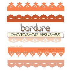 Graphics Phoenix: Bordure photoshop brushes : free download