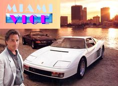 """You'd be surprised what you can do if you set your mind to it"" - Sonny Crockett #Miami vice w #Ferrari #motivation"