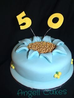 50th birthday cake by Angell cakes