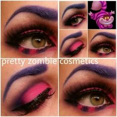 and pink smokey eye makeup (Indian eye makeup video) Cheshire Cat eyes for Alice in Wonderland PartyCheshire Cat eyes for Alice in Wonderland Party Cheshire Cat Makeup, Chesire Cat, Cheshire Cat Halloween Costume, Halloween Sale, Halloween Make Up, Halloween Party, Halloween Costumes, Halloween Contacts, Gato Alice