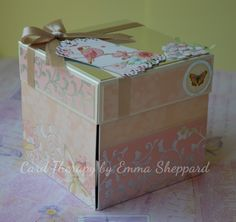 Exploding Box Card using Hunkydory Elements. Tutorial at http://cardtherapy.co.uk/exploding-box-card-mothers-day/