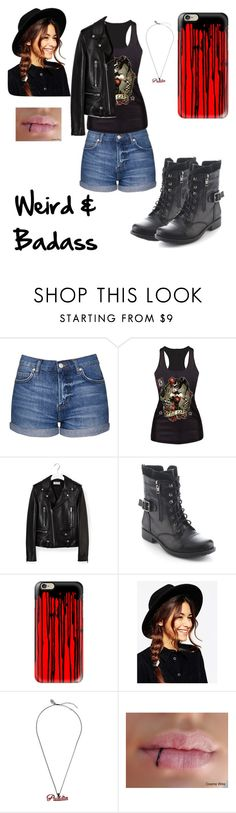 """#17 Different"" by crazykitsune ❤ liked on Polyvore featuring Topshop, Yves Saint Laurent, Refresh, Casetify and ASOS"