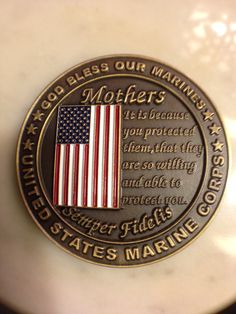 My Marine Mom Challenge Coin. My Marine bought me this same challenge coin Proud Of My Son, Proud Mom, Marine Mom, Marine Corps, Marine Quotes, Inspirational Quotes For Moms, Military Mom, Challenge Coins, Freedom Fighters