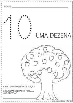 Matemática Infantil: Dia da Árvore Atividades Dezena