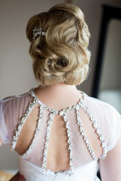 Bridal hair perfection: http://www.stylemepretty.com/2014/11/14/pink-and-turquoise-chicago-skyline-wedding/   Photography: Ann & Kam - http://www.annkam.com/