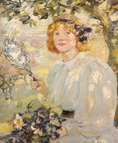 "THE GRØNMARK BLOG: ""Under the Apple Tree"" by Bessie MacNicol - the perfect painting for a perfect Spring day"
