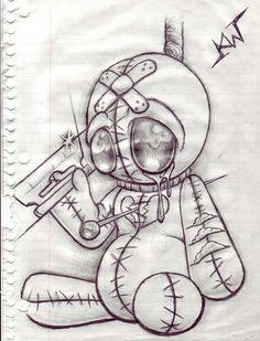 """Vodoo Doll Sketch """"Heart Broken"""" photo by Prison Drawings, Badass Drawings, Creepy Drawings, Dark Art Drawings, Creepy Art, Art Drawings Sketches Simple, Horror Drawing, Graffiti Drawing, Graffiti Art"""