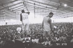 Hodgy Beats and Left Brain of Mellowhype. Taken by Brick Stowell