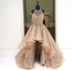Champagne High Low Evening Prom Dresses, Long A line Party Prom Dress, Custom Long Prom Dresses, Cheap Formal Prom Dresses Champagne Evening Dresses Evening Dresses Cheap Prom Dresses Long Prom Dresses A-Line Evening Dresses Prom Dresses Long High Low Prom Dresses, Prom Dresses For Teens, Prom Dresses 2018, Backless Prom Dresses, Ball Gowns Prom, Tulle Prom Dress, Cheap Prom Dresses, Prom Party Dresses, Quinceanera Dresses