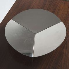 Gianfranco Grignani; Folded Sheet Steel Centerpiece Bowl for Luci, 1970.