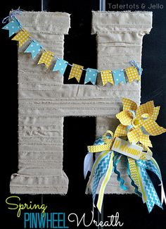 how CUTE would this be on the front door for a baby shower, and then Mom could take it home for baby's nursery?