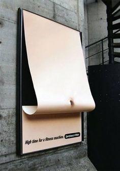 Simple but genius gym ad