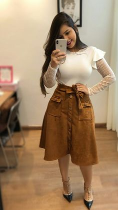 Pinned onto 2018 winter outfits Board in 2018 winter outfits Category Modest Wear, Modest Outfits, Skirt Outfits, Classy Outfits, Winter Outfits, Casual Outfits, Cute Outfits, Jw Fashion, Church Fashion