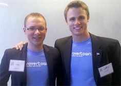 Pictured are JALC and SIUC alum, Mike Philip (left), the CEO of RoverTown, and Jeffry Harrison, the company's COO.