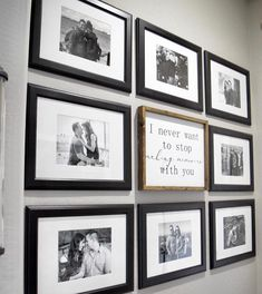 This gallery wall holds some of my favorite memories of ours, including anniversaries and some special trips we've taken together! Travel Gallery Wall, Travel Wall, Wall Collage, Frames On Wall, Wall Art, Gallery Wall Bedroom, Gallery Walls, Couple Room, Memory Wall