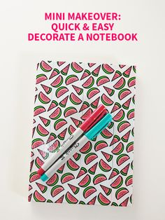 Mini Makeover: Quick & Easy Decorate a Notebook on Style for a Happy Home // Click for DIY