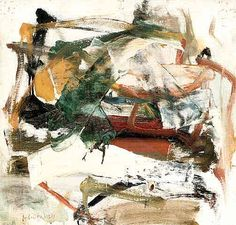 Joan Mitchell, Painting, 1960-1961, oil on canvas mounted on wood,  h: 36,58  x w: 37,59 cm.