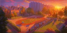 """Monsters University"" concept art (various artists)"