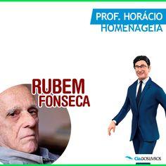 """#ProfHoraciocomenta que hoje comemoramos os 90 anos de Rubem Fonseca! <3 :-D  José Rubem Fonseca é contista, romancista, ensaísta, roteirista brasileiro e considerado um dos mais originais prosadores brasileiros contemporâneos.   Suas narrativas são velozes e sofisticadamente cosmopolitas, cheias de violência, erotismo, irreverência e construídas em estilo contido.   Em 2003, venceu o """"Prêmio Camões"""".   Um Especial! 8-) -> http://profhorac.io/3c"""