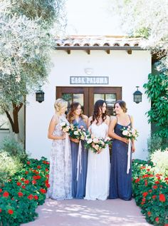 2bcc4507c28 Mix-and-Match Style Inspiration For Your  Maids. Navy Blue Bridesmaid  DressesGrey ...